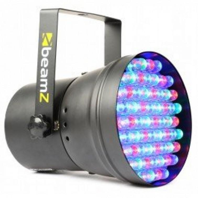 Светлинен ефект PAR 36 DMX spot Bk 55x 10мм. RGB LEDs